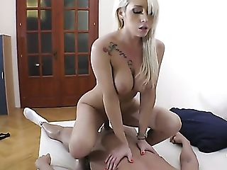 Awesome Big-boobed Blonde Christina Shine Gets Taken From Behind By...
