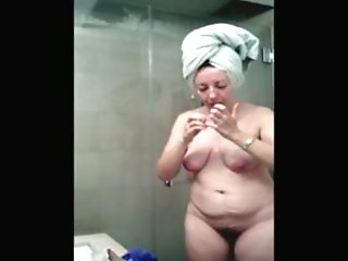Takes shower milf a sexy consider, that