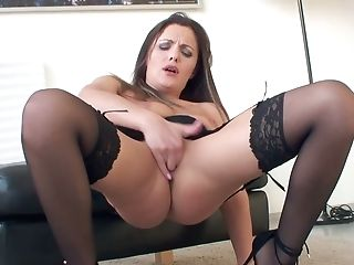 Gorgeous Cougar In Stockings Dominica Phoenix Is Finger Fucking...