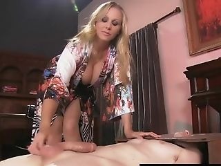 Penis Thirsty Cougar Julia Ann Rails Boy Tool's Face!