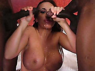 Enslaved Cheating Just Observes The Way Two Black Studs Fuck...