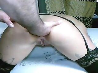 Mila Large Ass-fuck Faux-cock