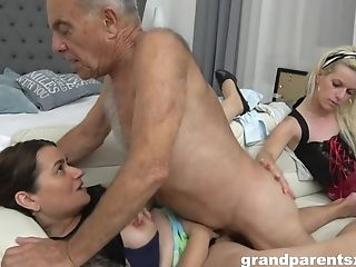 A Hotness Non-traditional Youthful Housemaid Fucks Old  - Old And...