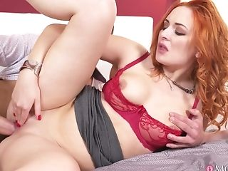 Red-haired Mummy Eva Berger Pleased Connor James With Puss Fuck
