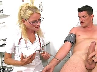 Horny Mummy Nurse Debora Examinations Jaw-dropping Stud With...