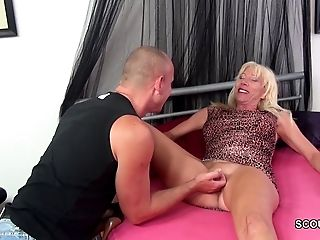 Step-Mom Entice Step-Son to Fuck when Dad is Away