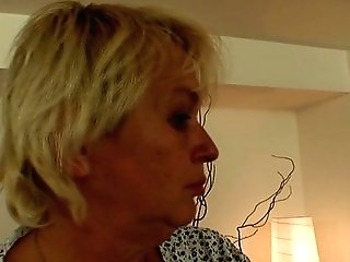 Very Old Cleaning Woman Is Dual Fucked