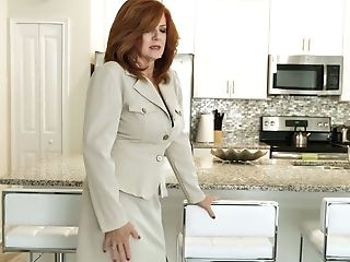 Crimson Haired Cougar Andi James Is Playing With Her Old Jugs And...