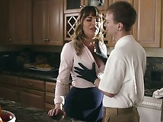 Gorgeous Mommy Dana Dearmond Bangs Her Stepson And Give Shim A...