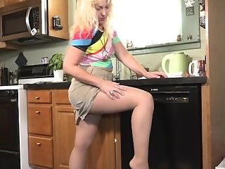 Blonde Gilf Justine From The Usa Needs Some Time Alone With Her...
