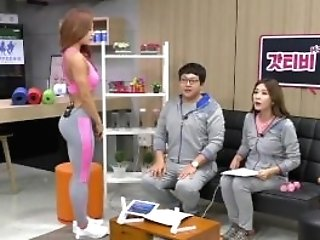 Korean Sport Woman Shim E. On Tv Program 01