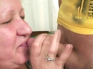 Wifey Comes In When Her Thick Mom Rails My Knob