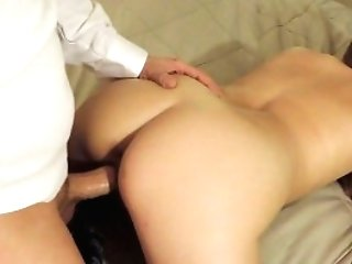 Dad Gives Step-daughter-in-law A Rear End Style Fuck Lesson Before...