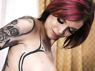 Weird Looking Cougar With Lots Of Tattoos Anna Bell Peaks Gets...