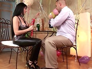 Hungarian Bitch In Spandex Alison Starlet Gives Boot Footjob To Her...