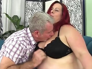 2 red haired bbw share 1 cock