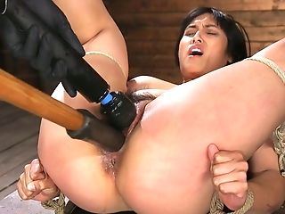 Tied Up Chubby Model Mia Little Gets Her Snatch Disciplined In The...
