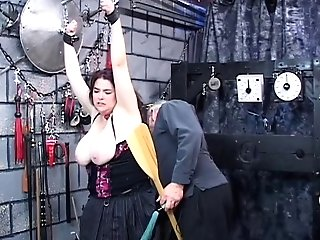 Bbw With Gigantic Udders Given Electric Shock By Old Fat Bastard