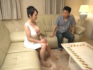 Big Tits Asian In Milky Sundress