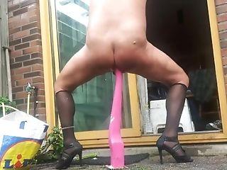 Dirtygardenboy Fave Hefty Horsedildo Ass-fuck