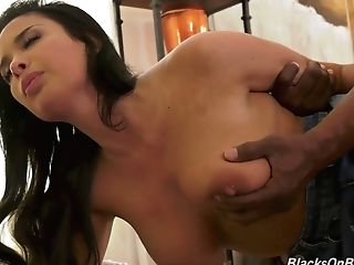 French Mummy Anissa Kate Goes Black While Her Hubby Is On A Biz Tour