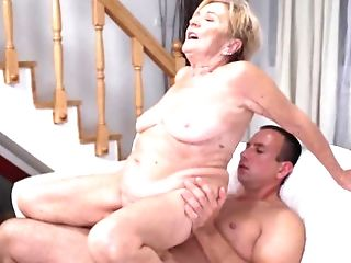 Supah Pervy Blonde Granny Malya Gets Rammed By A Youthfull Stud