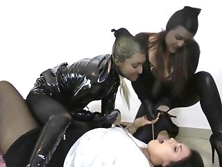 Lesbo Infatuation Restraint Bondage Spandex Bondage & Discipline