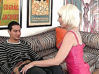 Lusty Blonde Cougar Dalny Is Absorbed With Railing Fat Big Trouser...