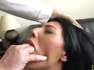 Candi Kayne Gets Mouth Fucked And Gets A Mouth Total Of Jizz