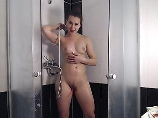 German Sandra Showering With Lovesense