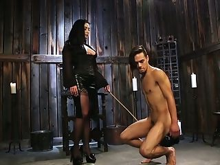 Brutal Mistress Lea Lexis Puts On Strap-on And Fucks Pooper Of...