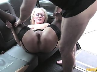 Rebecca Jane Smyth Spreads Her Gams For A Driver's Hard Pink...