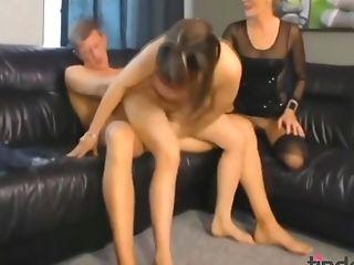 Cougar And Teenage Duo Pornography Flick