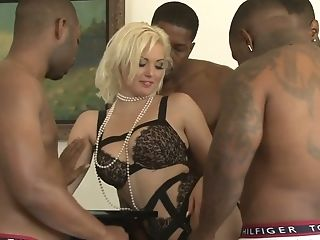 Dirty Wifey Jenna Ivory Is Cheating On Her Spouse With A Few Black...