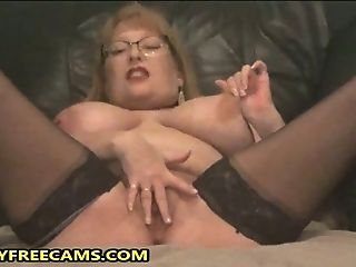 Three Immense Waterfall Squirts From Huge-titted Granny