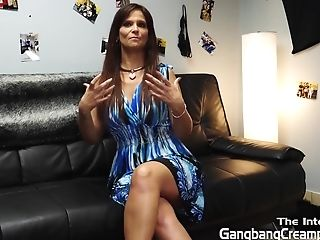 Syren De Mar Interviewed And Creampied By Five Guys
