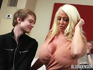 Cheating Threesome With Big Tit Pornographic Star Alura Jenson