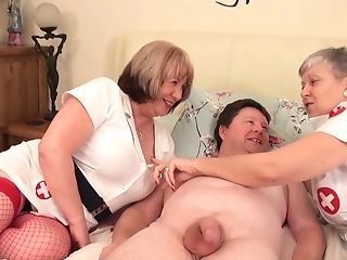 Banging Grannies - Horny Old Fucksluts And Chubby Dude