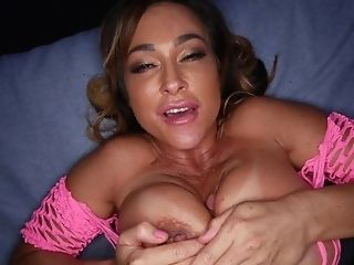 Dirty Deepthroat And Titty Fuck With Buxom Mummy Bi-atch Aubrey Black