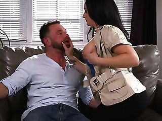 After Treating Man With Footjob Sexy Sheena Ryder Rails Stiff Dick