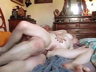 Old Duo Sucking And Fucking