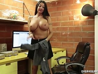 Big Faux Tits Matures Nadia Night Drops On Her Knees To Milk Him