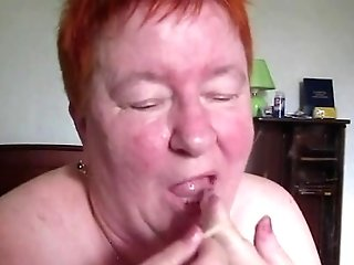 Fat Old Granny Munches Te Jizz From The Condum