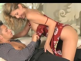 Summer Sundress Wearing Hot Blonde Mummy Loves Guzzling And Fucking...