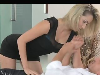 Magnificent Blonde Mummy With Deliciously Big Tits Fucking With Him...