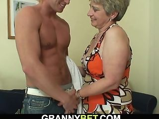 Hot-looking Man Rear End-fucks 60 Years Old Woman