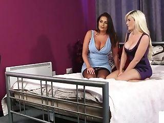 Insane Peeping Tom Cougar Duo Undress Providing Joi