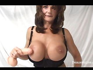 Mega-bitch Gilf Deauxma Plays With Her Fresh Fuck Stick