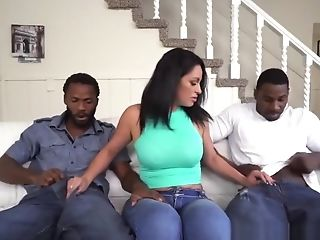 A Hot Curvy Mummy Is Being Dual Penetrated By Two Whopping Black...
