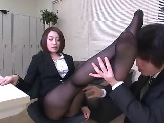 Pantyhose Gam Footjob - Non-traditional Asian Mummy